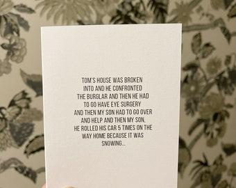 Tom rolled the car, Erika Jayne card, the pretty mess card, Erika Jayne holiday card, RHOBH Christmas card, RHOBH bday card