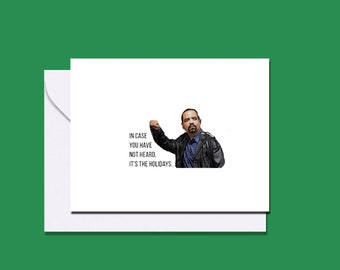 Law and Order Ice T Detective Finn inspired holiday card / Law & Order SVU / Law and Order holiday card / Christmas card