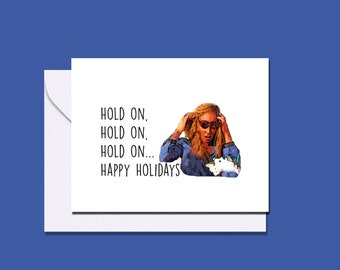RHOP inspired birthday holidays Christmas card / Karen Huger birthday or holiday card / Real Housewives of Potomac card