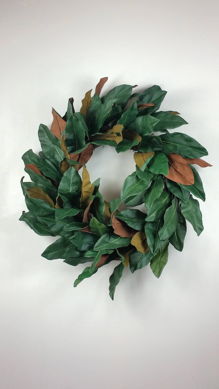 Magnolia Leaf Wreath: Farmhouse Magnolia Wreath Fixer Upper Wreath Magnolia Leaf