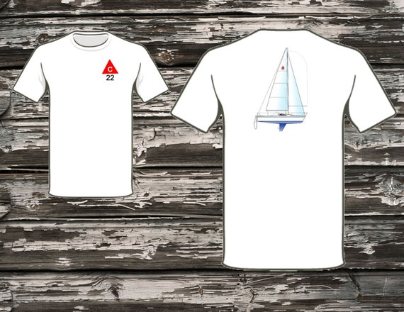 Capri 22 (Catalina) Sailboat T-Shirt