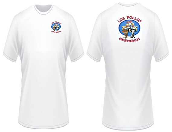 Los Pollos Hermanos Breaking Bad Print T-Shirt