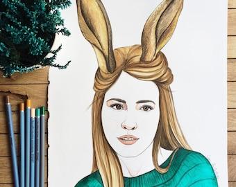 Personalized Portrait, Original Watercolor Illustration, Custom Portrait, Personalize, Couple Portrait, Love Portrait, Personalize Portrait