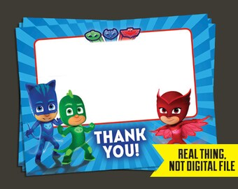 PJ Masks Thank You Cards