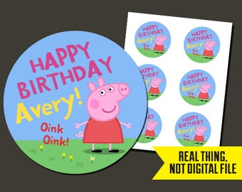 Peppa Pig Stickers - Peppa Pig Birthday StickersPrinted