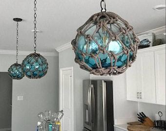 Glass Fishing Float Pendant Light