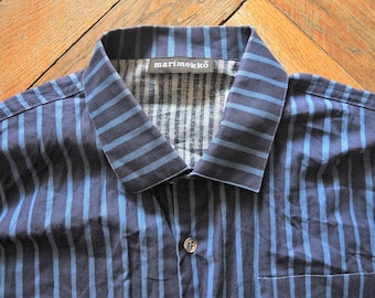 ea9c3bf1 Vintage Marimekko Finland striped Men's Shirt Jokapoika from the 90s 1990s