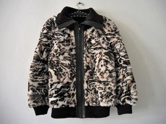 Sale Vintage Super Warm Sheepskin Leo Bomber Jacket Blouson Etsy