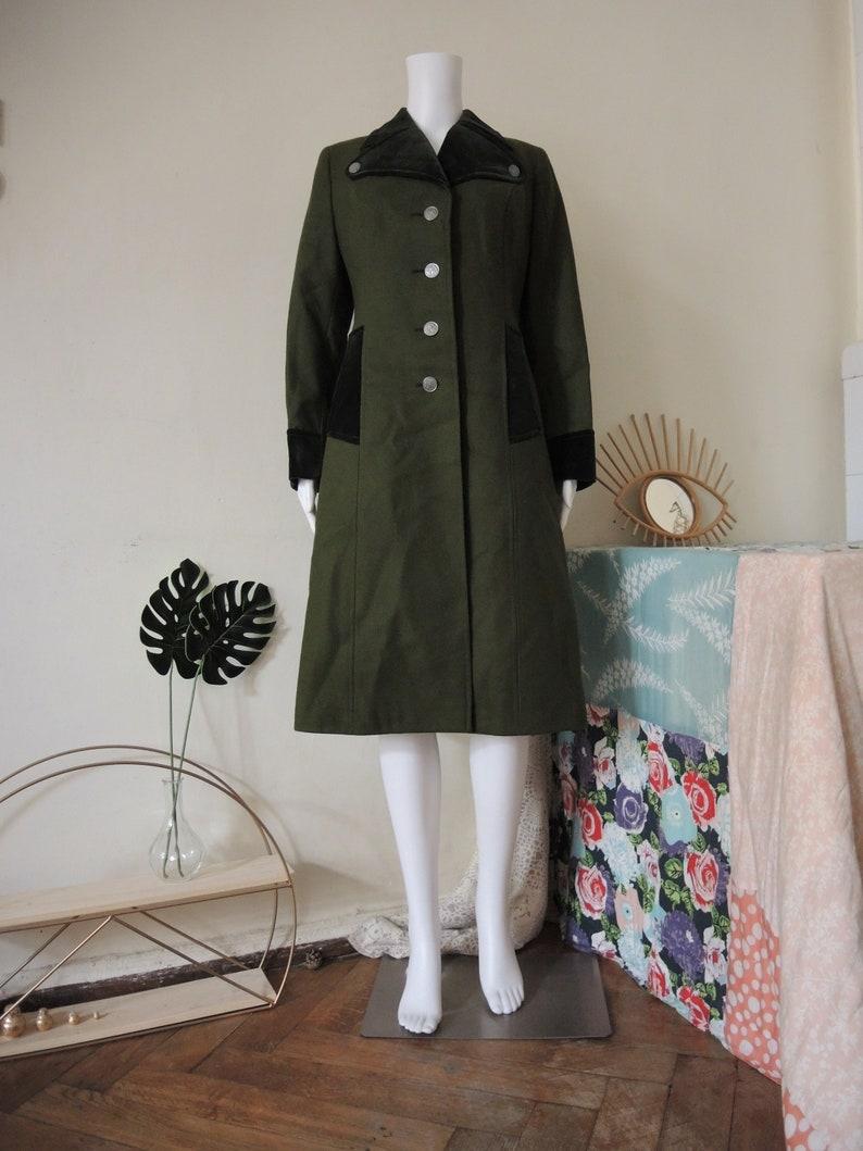 Vintage Austrian Trachten wool coat with velvet details alpine country  folklore Bavaria Loden Tirol 1970s 70s 1980s 80s 9753a6afa