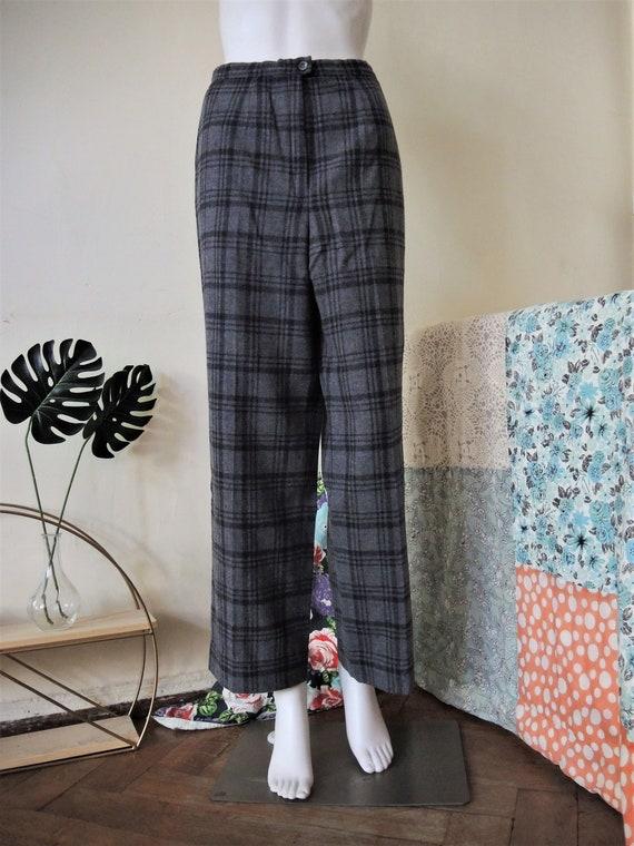 Vintage grey Pendleton virgin wool trousers pants… - image 3