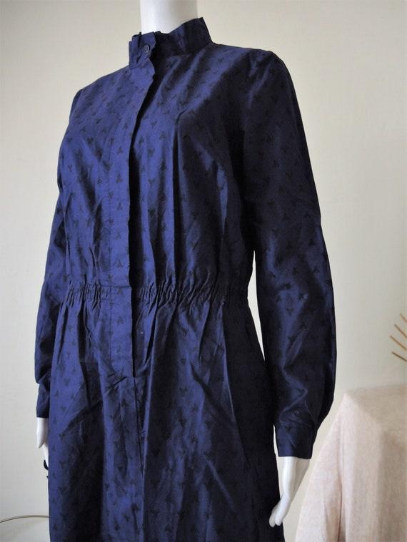 Vintage Marimekko Finland dark purple cotton midi
