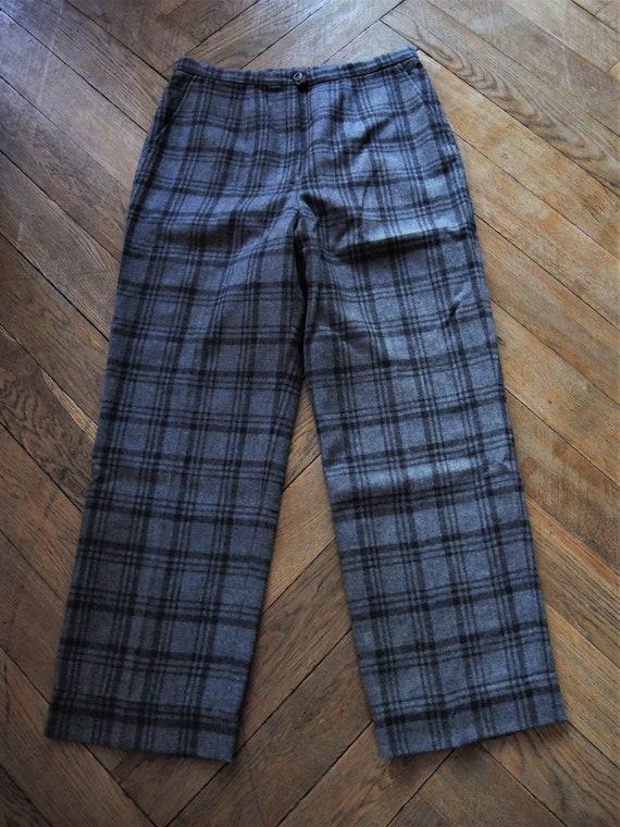 Vintage grey Pendleton virgin wool trousers pants… - image 6