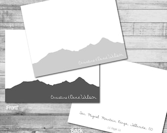 Personalized 'Custom Mountain Silhouette' Theme - A2 Folded Stationery