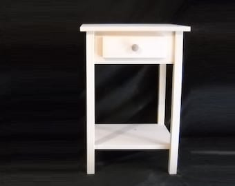 unfinished single or set Pine End Table Entry Table w/shelf Shaker Square edge