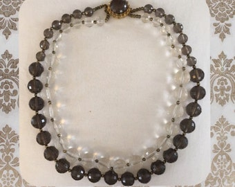 Vintage Two Strand Beaded Necklace, collector item, gift