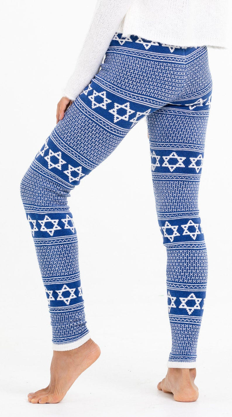 b5e4350a16f Ladies Jewish Leggings Star of David Pants Hanukkah