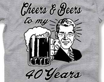 40th Birthday Gift Ideas For Men Custom Shirt Bday T 1978 Beer Lover Personalized TShirt 40 Years Old
