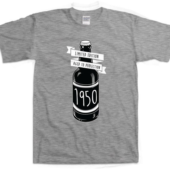 Limited Edition 1950 65th Birthday Shirt Aged To Perfection