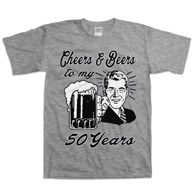 Retro Man 50th Birthday Shirt Gift For Fifty Year Old Cheers Etsy