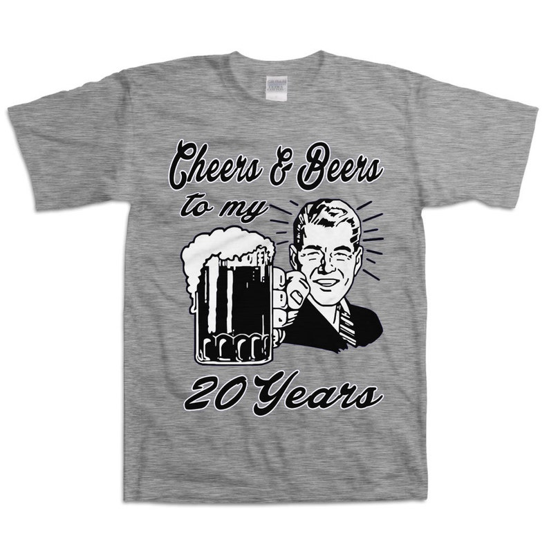 Retro Man 20th Birthday Shirt Gift For Twenty Year Old Cheers