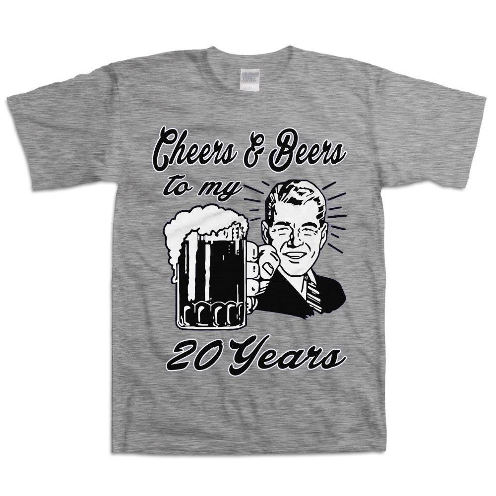 Retro Man 20th Birthday Shirt Gift For Twenty Year Old Cheers