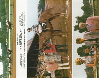 Secretariat Hopeful Stakes win on August 26th, 1972 - 3 Photo Composite