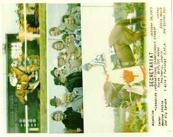Secretariat Canadian International win on October 28th, 1973 - 3 Photo Composite