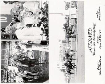 Affirmed - 1978 Kentucky Derby 3 Photo Composite