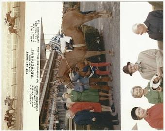 Secretariat Bay Shore Stakes win on March 17th, 1973 - 3 Photo Composite
