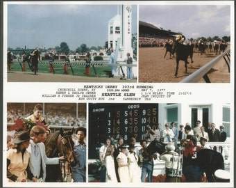 Seattle Slew - 1977 Kentucky Derby 4 Photo Composite