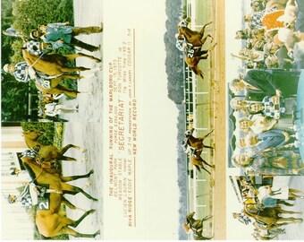 Secretariat Marlboro Cup win on September 15th, 1973 - 6 Photo Composite