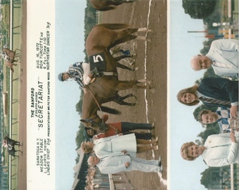 Secretariat Sanford Stakes win on August 16th, 1972 - 3 Photo Composite