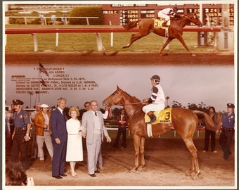 Affirmed - 1979 Californian 2 Photo Composite - Finish Line & Winners Circle