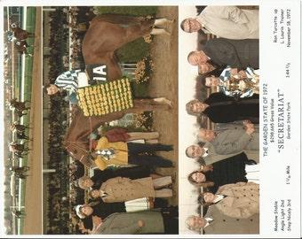 Secretariat Garden State Stakes win on November 18th, 1972 - 3 Photo Composite