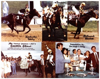 Seattle Slew - 1977 Belmont Stakes 6 Photo Composite