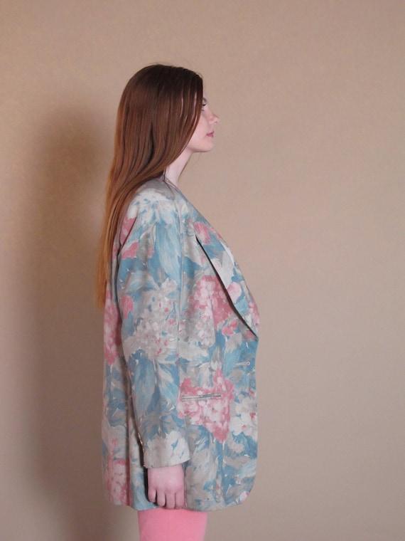 Oversized Floral Blazer, vintage floral blazer, v… - image 4