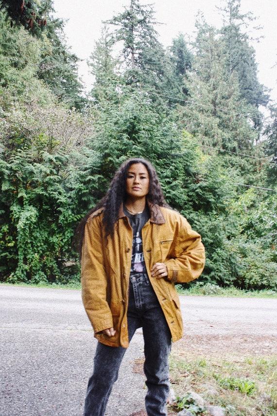 Leather Work Coat, leather work jacket, men's work