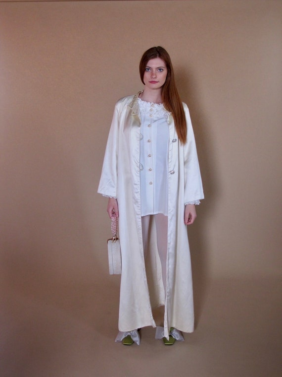 1960's Satin Wedding Coat, satin coat, bridal 1960