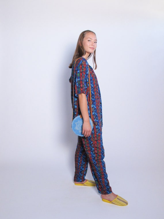 Multicolored 2 Piece Set, printed top and printed… - image 4