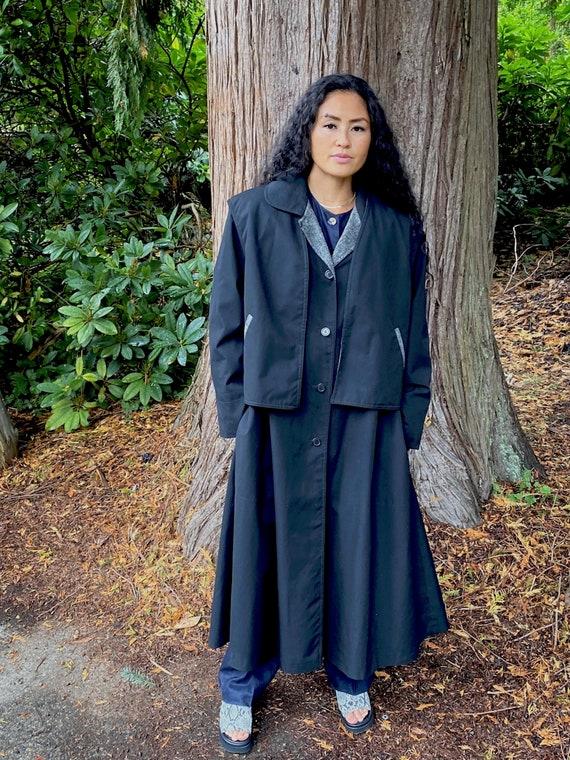 Black Trench Coat by Feminella England size 16, vi