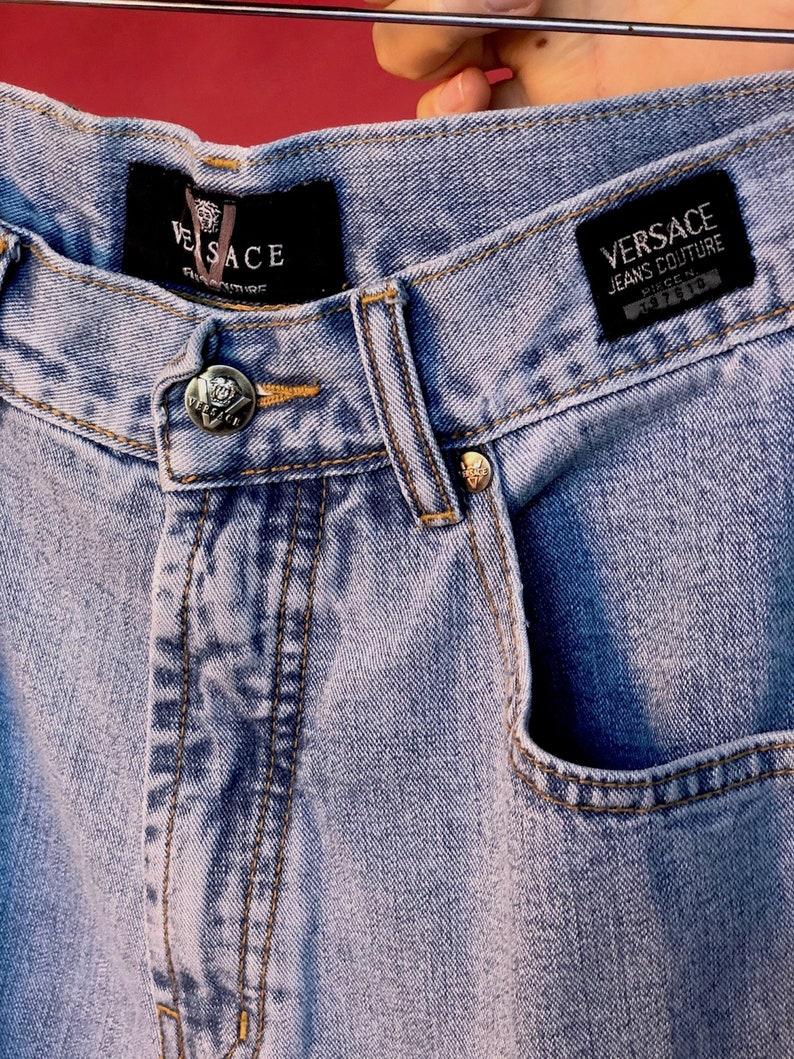 20e893c078aa8 Vintage Versace Mom Jeans size 27 designer denim