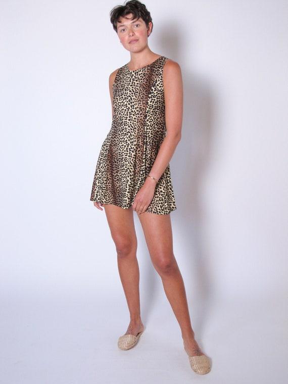 1960's Leopard Slip Dress, leopard loungewear, leo