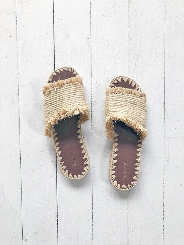 Natürliche Bast Sandalen marokkanische Schuhe Bast Schuhe | Etsy