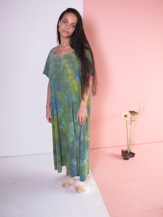 Oversized Tie Dye Dress, 1990's tie dye dress, vin