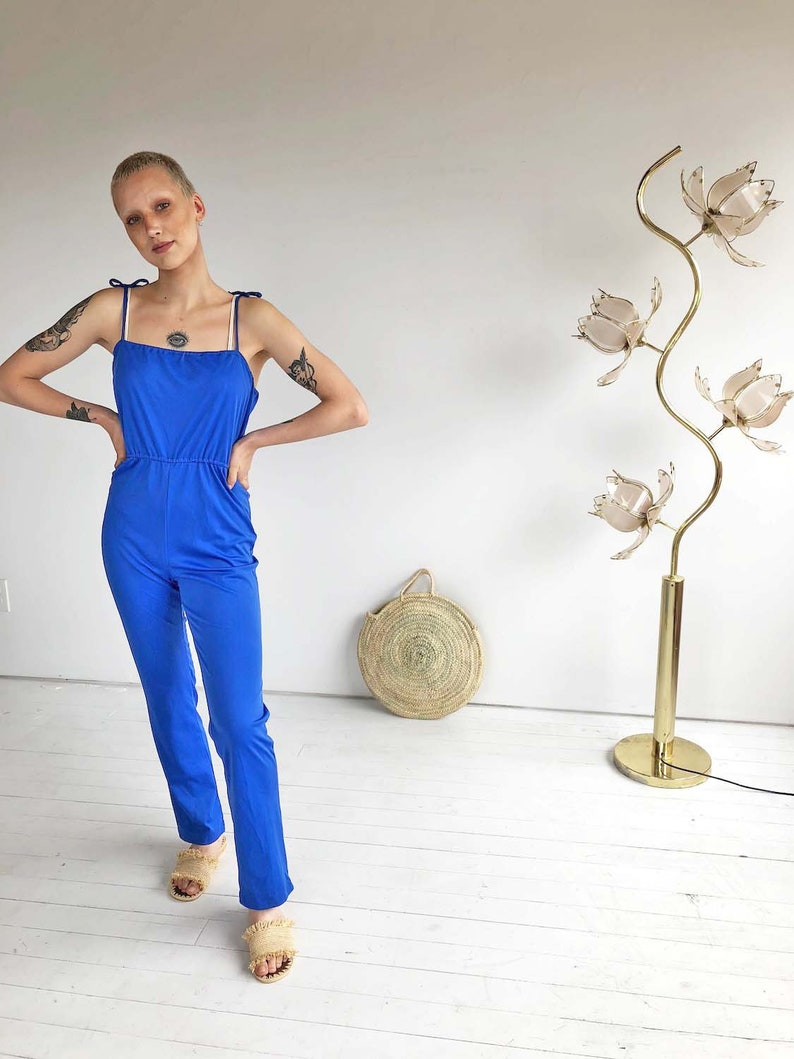 ddce289faa94 Blue 80 s jumpsuit vintage jumpsuit romper 1980 s