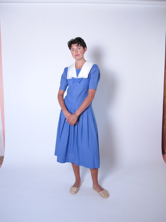 Vintage Laura Ashley Dress, Laura Ashley Sailor dr