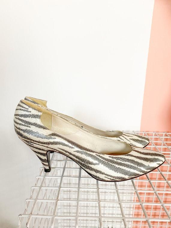 Zebra Print Leather Pumps, zebra heals, zebra prin