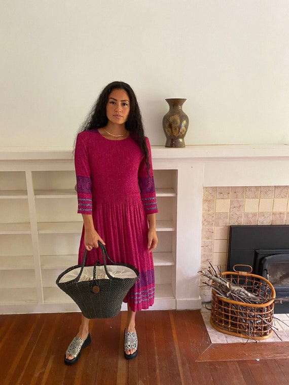 Pink Micropleat Dress, vintage sun dress, vintage
