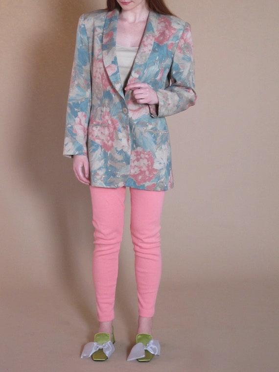 Oversized Floral Blazer, vintage floral blazer, v… - image 1