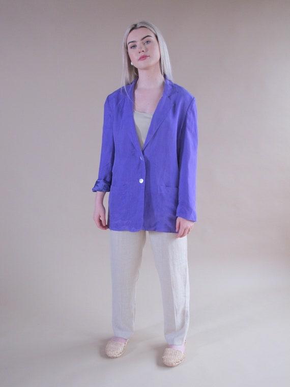 Purple Silk Blazer, 100% silk blazer, purple silk